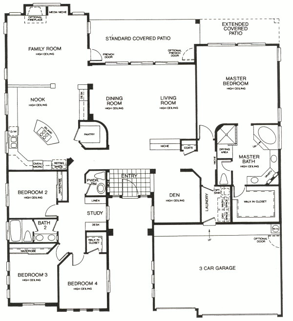 Montecito Live in McDowell Mountain Ranch Greystone Homes Jeff – Greystone Homes Floor Plans