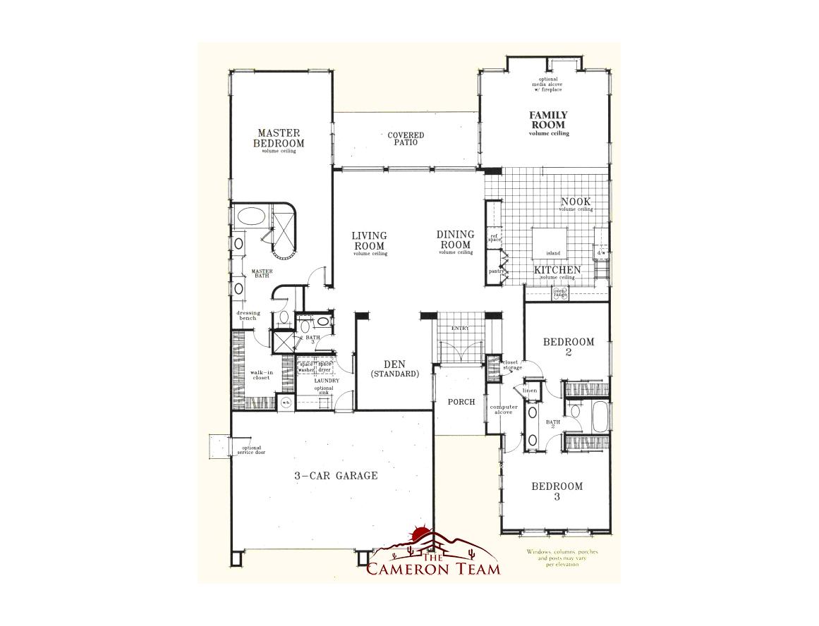 The catalina jeff cameron for Arizona floor plans
