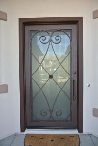 Iron Door with Glass portion that can open