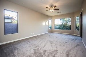 Large Master Bedroom with Bay Window and Exit to patio. Brand New Carpet and Fresh Paint