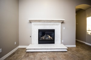 Gas Fireplace with Canterra